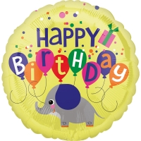 Folienballon Happy Birhday Elefant