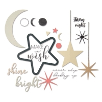 Sizzix Framelits Die Set 9PK w/Stamps - Make a Wish