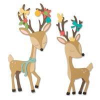 Sizzix Thinlits Die Set 10PK - Christmas Deer