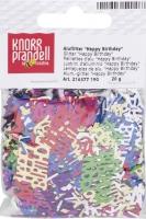 Aluflitter Happy Birthday ca. 2 - 3 mm multicolor
