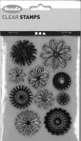 Silikonstempel Blüten