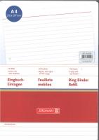 Ringbuch-Einlagen A4 liniert mit roter Kopflinie