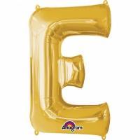 Folien-Ballon E gold 86cm
