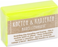 Modelliermasse Kneten & Radieren neongelb