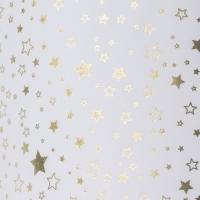Transparentpapier Sternenglanz Rolle 50 x 70 cm - Motiv A Sterne gold