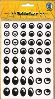 Sticker Augen schwarz/weiß