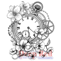 Deep Red Cling Stamp 2.75X3.2 - Blossom Time