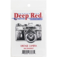 Deep Red Cling Stamp 3.2X1.5 - Vintage Camera
