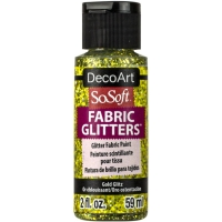 DecoArt Stoffmalfarbe 59ml Glitter-Gold