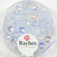 Glas-Schliffperlen, Radl 6x3 mm irisierend aquamarin