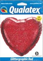 Glittergraphic Red Folienherz