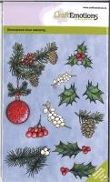 Clearstamps A6 - Weihnachtskugel mit Zweigen