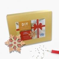 Weihnachtsbox Diamond Dotz Bastelset - Schneeflöckchen
