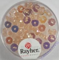 Glas-Schliffperlen, Radl 6x3 mm irisierend rosenquarz