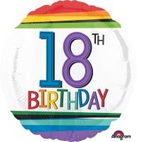 Folienballon Rainbow Birthday 18