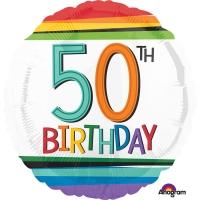 Folienballon Rainbow Birthday 50