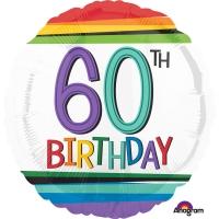 Folienballon Rainbow Birthday 60