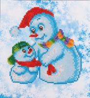 DIAMOND DOTZ Snow Family 23x25 cm
