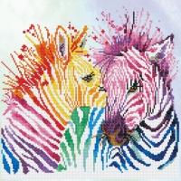 DIAMOND DOTZ Rainbow Zebras 40cm x 40cm