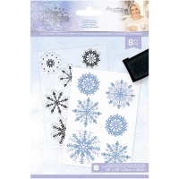 Glittering Snowflakes Clear Stamps by Crafters Companion