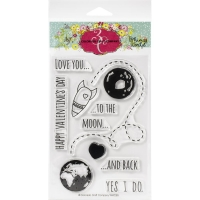 Colorado Craft Company Clear Stamps 4X6 - To The Moon-Whimsy World
