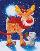 DIAMOND DOTZ Reindeer Gift 27x35 cm