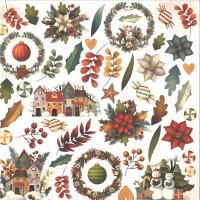 Craft & You Colors of Christmas Scrapbooking Paper Motiv 07