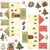 Craft & You Colors of Christmas Scrapbooking Paper Motiv 09