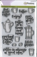 Clearstamps A5 Handletter - Coffee please