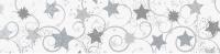Transparentpapier Weihnachten Rolle 50 x 70 cm - Motiv A Sterne silber