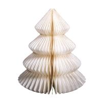 Papier-Ornament Baum creme