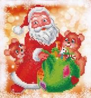 DIAMOND DOTZ Santa & Teddies 23x25 cm