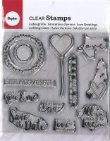 Clear Stamps - Liebesgrüße