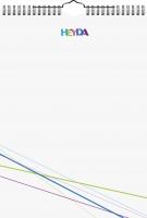 Bastelkalender immerwährend A4 Deckblatt: weiß, Monatsblätter: weiß