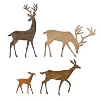 Sizzix Thinlits Die Set 4PK - Darling Deer by Tim Holtz