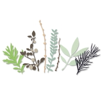 Sizzix Thinlits Die Set 9PK - Hidden Leaves