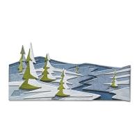 Sizzix Thinlits Die Set 6PK - Snowscape, Colorize by Tim Holtz