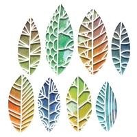 Sizzix Thinlits Die Set 8PK - Cut Out Leaves