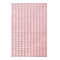 Sizzix 3-D Textured Impressions Embossing Folder - Knitted