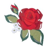 Sizzix Thinlits Die Set 14PK - Layered Rose