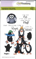 Clearstamps A6 Pinguine 1