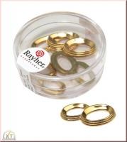Acryl-Eheringe, 25 mm 5 Stück gold