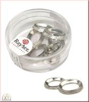 Acryl-Eheringe, 25 mm 5 Stück silber