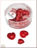 Plastik-Herz, 8x1,5cm, 16x1,0cm 24 Stück rot