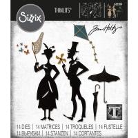 Sizzix Thinlits Dies By Tim Holtz 14/Pkg - The Park