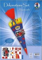 Schultüten Dekorations-Set Feuerwehr