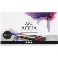 Art Aqua Aquarellfarbe 12er Metallkasten