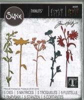 Sizzix Thinlits Die Set 5PK - 665221 Wildflower Stems #3 by Tim Holtz