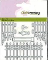 Stanze Metall Gartentor nostalgisch gross Card 11x9cm