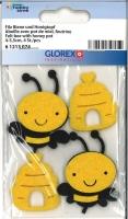 Filz Biene und Honigtopf